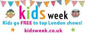 Kids Go Free to West End Shows (when accompanied by paying adult) at Kids Week