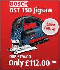 Bosch gst 150 bce jigsaw £112 @ Toolineuk