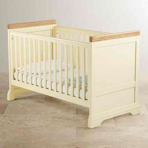 Country Cottage Natural Oak and Painted 3 in 1 Cot Bed £299.64 oakfurnitureland
