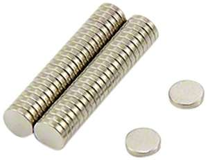 [Add-on Item] 5 mm x 1 mm N35 Neodymium Magnet (Pack of 50) £3.22 @ Amazon