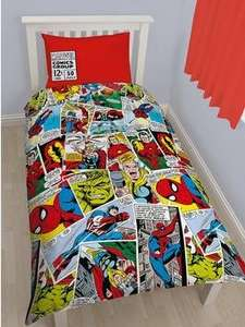 Marvel Comic Justice Rotary Duvet Cover Set (single) now £7.68 C&C at Very