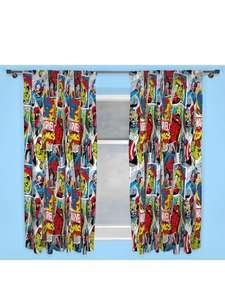 Marvel Comic Justice Pleated Curtains (was £27) Now £12 c&c at Very