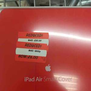 iPad Air Smart Cover (Red) - £6 @ ASDA (in store) - Leigh