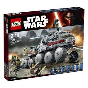 LEGO 75151 Star Wars Clone Turbo Tank Construction Set - NEW SET -  on offer at Tesco £76.99 - free c&c