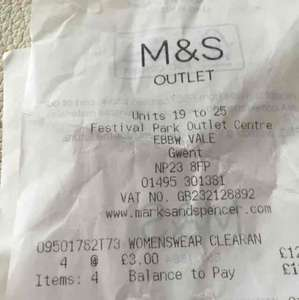 M&S outlet Ladieswear Clearance all down to £3 wow - outlet in Festival Park ebbw vale