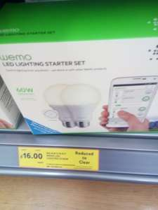 Belkin Wemo starter pack was £60 down to £16 instore at Tesco
