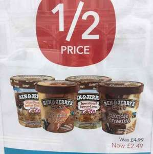 Ben & Jerry's HALF PRICE £2.49 @ Co-Op
