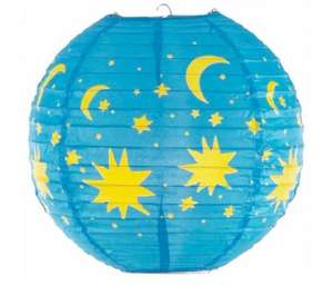 Colours Venus Blue & Yellow Stars & Moons Light Shade Half Price £1 @ B&Q Free C&C