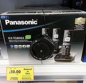 Panasonic KX-TG8063 Trio Cordless Home Phone £30 instore @ Tesco