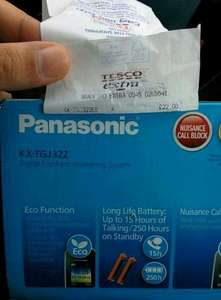 panasonic twin cordless phone kx-tgj322  @ Tesco Bradford