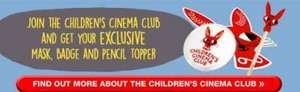 Join The Children's Cinema Club & get a Free Mask, badge & pencil topper