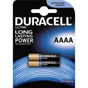 Duracell AAAA batteries 80p at Tesco - Norwich