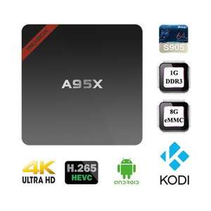 NEXBOX A95X Amlogic S905 1GB/8GB 4K TV Box 1G DDR3 RAM 8G eMMC Flash ROM 64bit 4Kx2K Android 5.1 OS H.265 HEVC WiFi 2.4G Dolby DTS Android Mini PC £18.61 @ Bang good