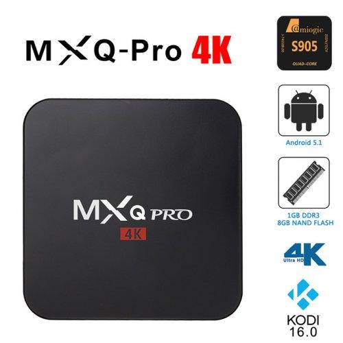 MXQ Pro 4K Ultimate KODI Android 5.1 Lollipop Amlogic S905 Quad Core 1GB/8GB TV Box Android Mini PC £19.33 @ Bang good