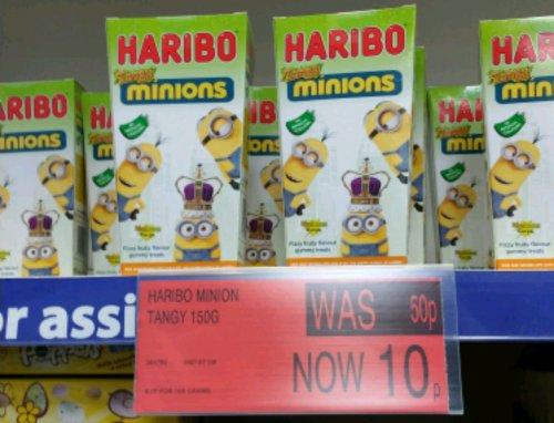 Haribo Minions Tangy 150g 10p @ B&M Bargains