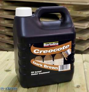 CREOCOTE DARK BROWN OR LIGH T BROWN 4 LITRES at inexcess £4.99