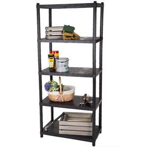 Keter Shelving: 5-shelf @ £9.99. 4-shelf @ £6.99.  Plus min £3.99 delivery. @ Brooklyn Trading
