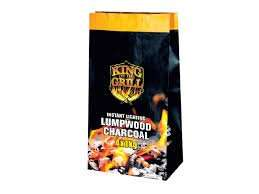 King of the Grill 4x 1KG instant lighting lumpwood charcoal £4.49 or £2.69 after 40% discount voucher @ Lidl