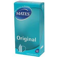 Mates Original Lubricated Condoms: 12 Pack at Home Bargains