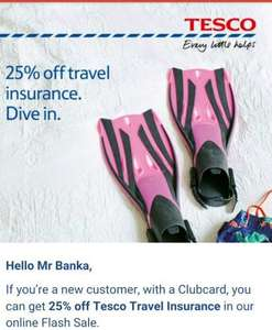 tesco travel insurance flash sale