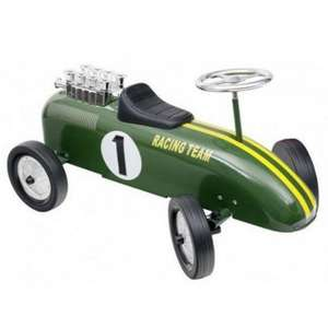 Classic Racing Green Metal Push Along Ride-On Car With Rubber Tires £30 Del @ Tesco Ebay Outlet (also Yellow/Red Car)