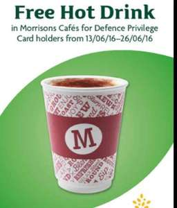 Free Hot Drink for Ex & Serving Military with Forces ID Card Nationwide @ Morrison's Cafe