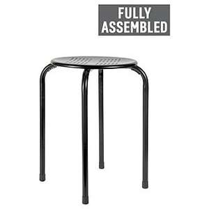 Simple Value Stacking Dining Stools in Black or White was £3.99 now £2.49 C+C @ Argos
