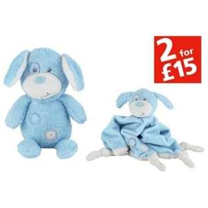 My First Teddy & Comforter Set in Blue or Pink half price now £4.99 C+C @ Argos