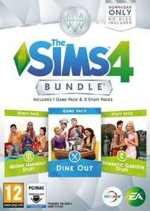 The Sims 4 Bundle Pack: DINE OUT, ROMANTIC GARDEN, MOVIE NIGHT (PC Download) - GAME - £24.99