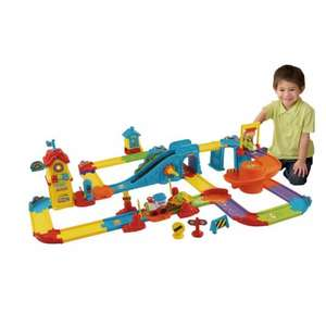 VTech Toot-Toot Drivers Train Station was £49.99 now £23.99 C+C or £26.98 Del @ Smyths Toys (using code) (Fisher Price Rainforest Jumperoo £63.99 Del)