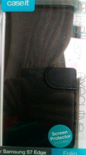 Samsung Galaxy S7 Edge leather case + screen protector @ Tesco