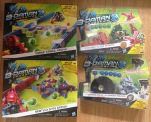 Hasbro B-Daman Crossfire Figures and Arenas £1 each @ Poundland