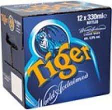 Asda 12 pack 330ml bottles Tiger Beer £6.67