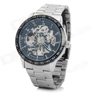Stainless Steel Self-Winding Mechanical Wristwatch - Black + Silver £11.41 delivered @ dealextreme