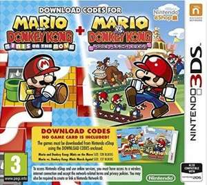 3DS Mario Vs Donkey Kong: Minis On The Move + Minis March Again (Code In Box) £10.12 @ GameSeek