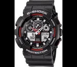Casio Men's Combi Watch Ga-100-1A4Er with G-Shock Resin Strap £49.99 @ Amazon.co.uk free delivery