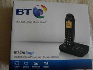 BT Single digital cordless phone with answer machine@Tesco.instore.
