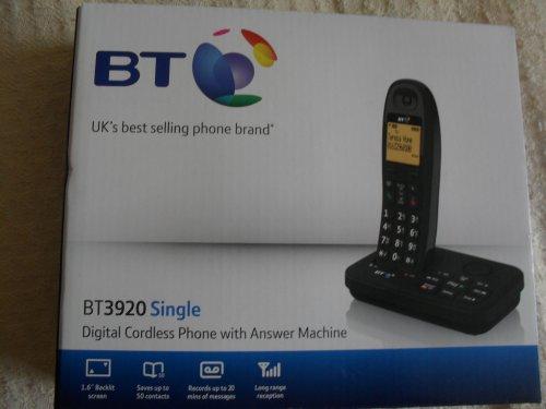 BT Single digital cordless phone with answer machine@Tesco.instore.