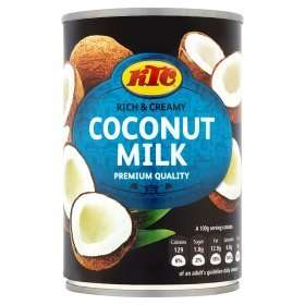 KTC Coconut Milk 400g only 50p @ ASDA