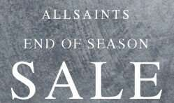 Upto 50% Off End of Season Sale  + Extra 20% Off with code + Free delivery using Amazon Prime with no Minimum spend + Free Returns @ All Saints