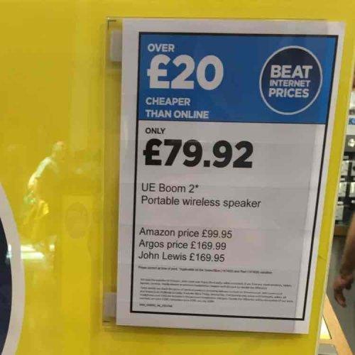 UE Boom 2 £79.92 at Dixon travel at Gatwick Airport