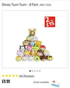 2 for £15 offer- Disney Tsum Tsum Squishies ( 2 packs of 8) - £15 @ Argos