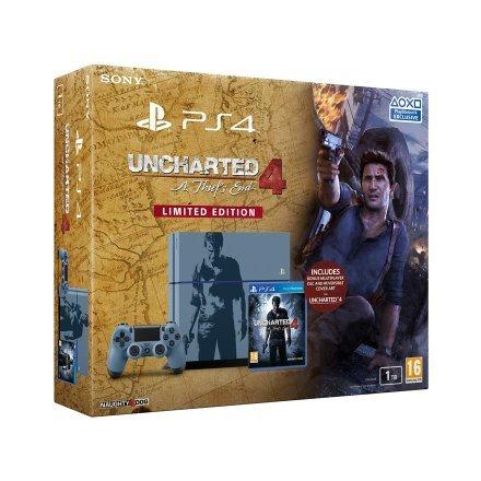 PS4 1TB Grey Blue Uncharted 4 Console Bundle £299.99 @ Smyths