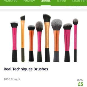 Real technique makeup brushes from £5 Groupon / crazykangaroo.com