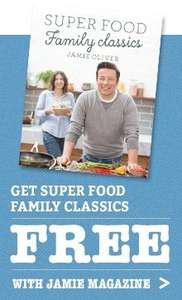 Subscribe to Jamie Oliver Magazine for one year £25.99 and receive new Superfood Family Classics Book Free (RRP £25) £25.99