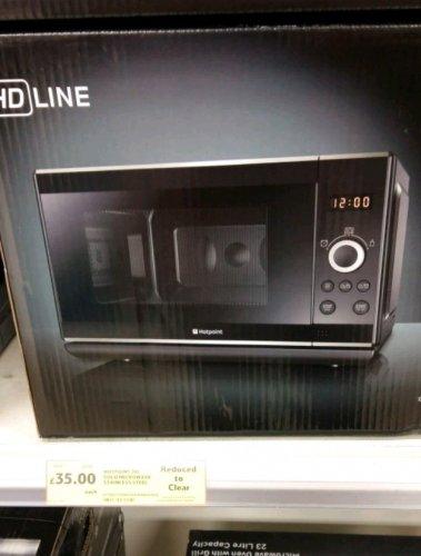 Hotpoint 20l microwave. £35 Tesco . Hartlepool.