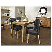 Banbury Rectangular Dining Table & 4 Upholstered Chairs Set was £197.95 now £102.95 Del with code @ Tesco Direct