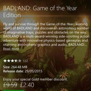 Badland: Game of the Year Edition Xbox One £2.40 (Gold Members) @ Xbox Store