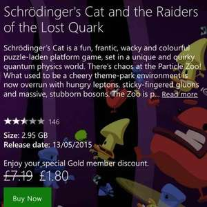 Schrödingers Cat and Raiders of the Lost Quark Xbox One £1.80 (Gold Members) @ Xbox Store