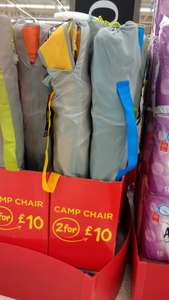 Camping Chair 2 For £10 Asda
